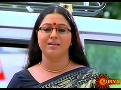 Mallu Serial Actress Lakshmi Priya Navel Through Saree
