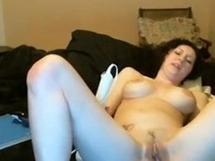 pale white girl brandishes thick consequential dildo -tinycam.org