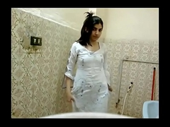 Indian city girl rubbing tight love tunnel in bathroom nude