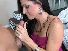 Elegant brunette India Summer fucking